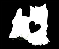 yorkshire terrier with heart decal dog window vinyl car laptop yorkie sticker dh154 - Frise Vinyle