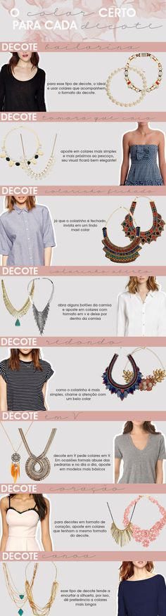 o colar certo para cada tipo de decote - Dicas de moda e estilo por Deisi Remus