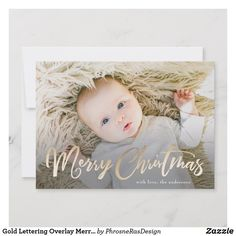 Gold Lettering Overlay Merry Christmas Photo Card This is a lettering design with a full bleed photo and overlay in faux gold foil. Gold lettering reading Merry Christmas Size: 5 x Color: Matte. Merry Christmas Images Free, Merry Christmas Card Photo, Merry Christmas Greetings, Christmas Banners, Holiday Photo Cards, Holiday Photos, Christmas Cards, Christmas Holiday, Christmas Decor