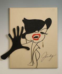 Judy Garland caricature.