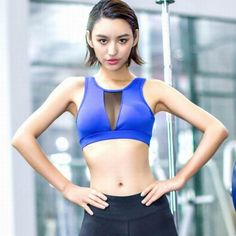 9e2c358aaf8c9 2017 Hot Sports Bra Women Mesh Fitness Yoga Bra Workout Gym Bra