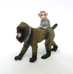 Female with Baby Mandrill (Monkey/Baboon family) by Schleich