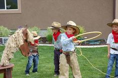 lasso w hula hoop restlessrisa: Cowboy Party Games & Presents! lasso w hula . Rodeo Party, Cowboy Party Games, Rodeo Birthday Parties, Indian Birthday Parties, Cowboy Theme Party, Horse Party, Cowgirl Birthday, Farm Party, Cowboy Birthday Party Games
