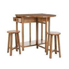 Fir wood bar and stool set with a lift top. Product: 1 Bar and 2 stools Construction Material: Fir wood Wood Bar Table, Bar Table Sets, Bar Tables, Table Stools, Dining Tables, Wooden Bar, Dining Rooms, Chairs, Bar Furniture