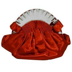♥•✿•♥•✿ڿڰۣ•♥•✿•♥   1930s Art Deco Red Satin Handbag  ♥•✿•♥•✿ڿڰۣ•♥•✿•♥