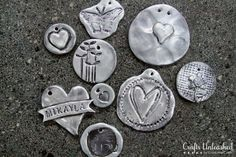 Polymer Clay Tutorial: Faux Pewter Pendants