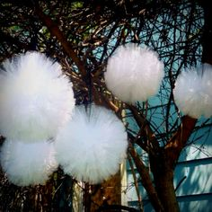 Tulle Decor - We're gonna have so much leftover tulle from the tutu. We can make these in different colors!