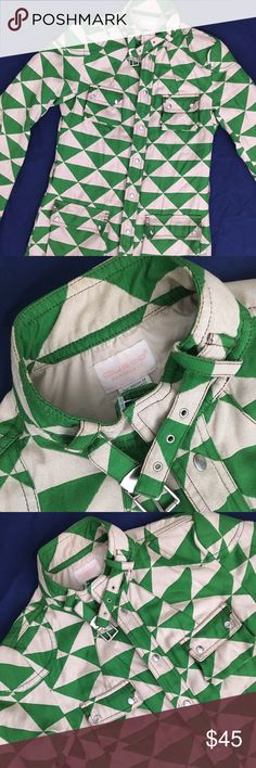 Vintage Retro Custo Barcelona Jacket This retro Custo Barcelona jacket has an awesome kelly green and khaki colored checkered pattern with unique stitching, and a cool belt around the collar. This jacket is pretty light weight for how warm it keeps you. In excellent condition with the exception of some small make-up stains on the sleeve, and one tiny pull. See pictures for markings. Sold as is. Fits like an XS/S. Custo Barcelona Jackets & Coats