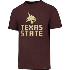 '47 Texas State University Logo Club T-shirt (Red Dark, Size Medium) - NCAA Licensed Product, NCAA Men's Tops at Academy Sports