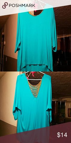 High low turquoise Blouse Turquoise blouse Tops Blouses