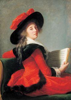 1785 The Baroness Bonne-Marie-Joséphine-Gabrielle Bernard de Boulainvilliers by Elisabeth Vigée-Lebrun