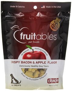 Fruitables Crispy Bacon and Apple Crunchy Dog Treats, 1-7-Ounce Pouch -- Startling review available here  : Dog treats