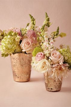 Gorgeous blooms in pretty vases