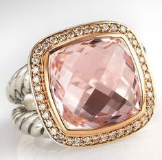 Died and went to heaven! David Yurman's Morganite Ring...EVERYTHING ABOUT YOU IS BEAUTIFUL!