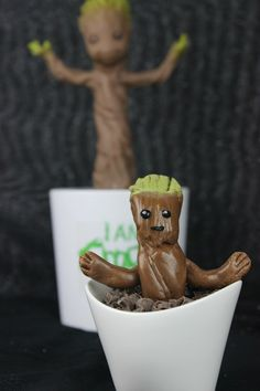 Baby Groot made out of Tootsie Rolls l @nerdist