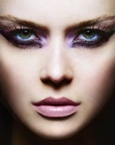Avant garde makeup. Photo by Matt Baxter.