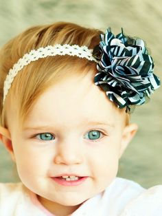 hair bow/ flower clip ...black/white zebra... flower hair bow... baby headband... lovely hairbow for baby, toddler and little girls