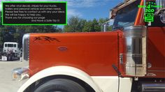2pcs sT-3 ANIMAL Decals Classic Hood 4 Semi Truck Big Rigs Peterbilt KW Graphic #Oracal