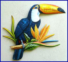 Hey, I found this really awesome Etsy listing at https://www.etsy.com/listing/251216006/hand-painted-toucan-tropical-wall-decor