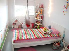 MALM twin bed frame in white