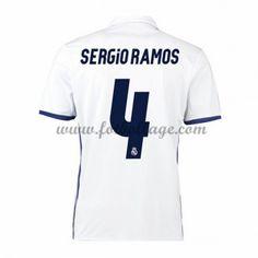 Fotbollströjor Real Madrid 2016-17 Sergio Ramos 4 Hemmatröja