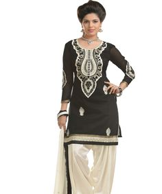http://www.istyle99.com/Dress-Material/Black-And-white-Chanderi-Cotton-Embroidered-Party-Wear-Unstitched-Dress-6674.html Black And white Chanderi Cotton Embroidered Party Wear Unstitched Dress @ Rs949.00 Stitch Type: Unstitched Occassion Type: Party Wear Colour: Black,White Top Fabric: Chanderi Cotton Bottom Fabric: Semi Santoon Dupatta Fabric: Nazmeen Work Style: Embroidered Style Type: Patiyala Suit Top Size: 2.3 MTR Bottom Size: 2 MTR Dupatta Size: 2.25 MTR