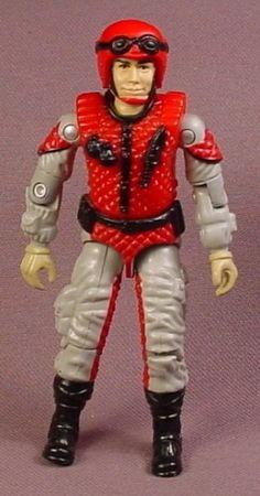 G.I. Joe Crazylegs Action Figure, 3 3/4 Inches Tall, 1987 Hasbro, GI Joe