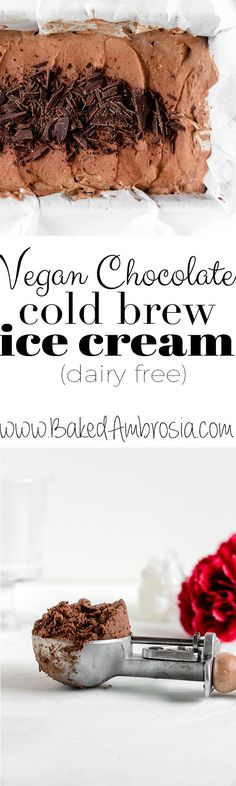 Vegan Chocolate Cold Brew Ice Cream (dairy free) - Baked Ambrosia The creamiest, richest, most delicious Vegan Chocolate Cold Brew Ice Cream ever! It's silky smooth, studded with dark chocolate and dairy free. Frozen Meals, Frozen Desserts, Cheesecake Ice Cream, Cheesecake Desserts, Chocolate Cheesecake, Milkshake Recipes, Popsicle Recipes, Great Desserts, Savoury Cake