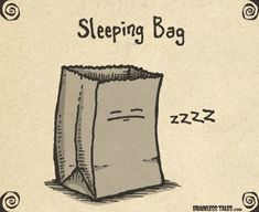 What's a sleeping bag? Fun illustrations from Brainless Tales to get your ki… What's a sleeping bag? Fun illustrations from Brainless Tales to get your kids thinking about language and how it works. Note: Not all cartoons are school appropriate. Punny Puns, Cute Puns, Puns Jokes, Corny Jokes, Dad Jokes, Funny Cute, The Funny, Funny Memes, Hilarious