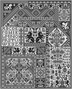 Long Dog Samplers - my next project.  I'm going to be doing it with DMC #902 on 18 count white aida.