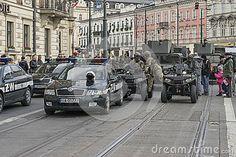 Polish army parade celebrating Polish Independence Day in Krakow on November 11 .