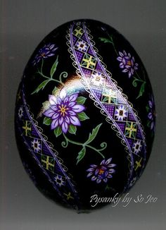 Beautiful pysanka egg by Canadian artist So Jeo. Gorgeous work!