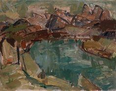 Toss Woollaston Landscape Paintings, Landscapes, New Zealand Art, Aqua, Artists, Paisajes, Scenery, Water, Artist