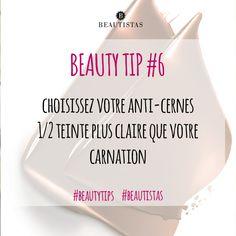 Choisissez votre anti-cernes 1/2 teinte plus claire que votre carnation #beautytips #beautistas #concealer #foundation #skin