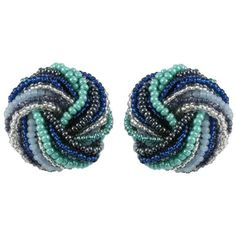 Venetian Murano glass torsade earrings from Eternal Collection ($43) ❤ liked on Polyvore featuring jewelry, earrings, murano glass jewelry, earring jewelry, murano glass earrings and earrings jewellery