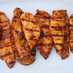 Combine all marinade ingredients in a small bowl. Pour the mixture over the chicken, turn the pieces to coat evenly, cover and place in refrigerator ...