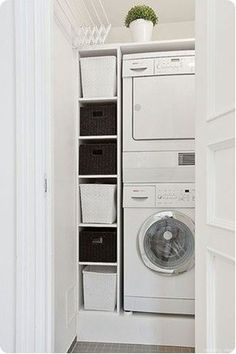 Basement Laundry Room Decorations Ideas And Tips 2018 Small laundry room ideas Laundry room decor Laundry room makeover Farmhouse laundry room Laundry room cabinets Laundry room storage Box Rack Home Tiny Laundry Rooms, Laundry Closet, Laundry Room Organization, Laundry In Bathroom, Bathroom Closet, Organization Ideas, Storage Ideas, Garage Bathroom, Tiny Closet