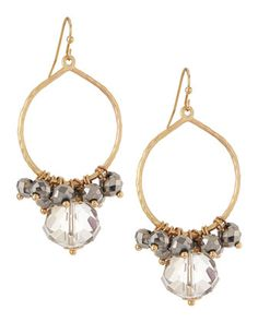 Smoky Hematite Charm Drop Earrings by Panacea at Neiman Marcus Last Call.