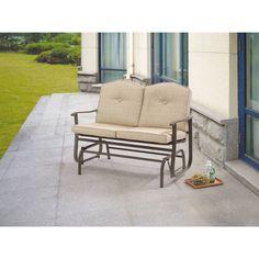Glider Outdoor Swing Bench Seat Chair Furniture Patio Garden Deck Loveseat #Mainstays