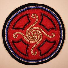 All Things Cherokee: Art Gallery - Beadwork - Framed Sun Circle III by Martha Berry Cherokee Symbols, Cherokee History, Native American Cherokee, Native American Crafts, Native American Indians, Cherokee Indian Art, Cherokee Indians, Cherokee Nation, American Symbols