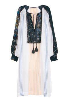 Beaded cotton dress | H&M