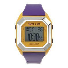 SOLUS LEISURE 840  - FINGER TOUCH HEART RATE MEASUREMENT - HEART RATE ZONE ALERT - CALORIE CONSUMPTION - COUNTDOWN TIMER - LAP MEMORY - DATE - ALARM AND HOURLY CHIME - ABS CASE AND PU STRAP - EL BACKLIGHT - 5 ATM