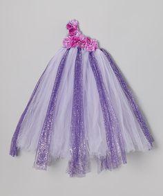 Loving this Lilac Rose Tutu Asymmetrical Dress - Infant, Toddler & Girls on #zulily! #zulilyfinds