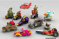 wacky races all characters by joeliveros.deviantart.com on @deviantART