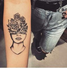 best half sleeve tattoos ever Head Tattoos, Mini Tattoos, Flower Tattoos, Body Art Tattoos, Sleeve Tattoos, Tatoos, Collar Tattoo, Tattoos For Women Half Sleeve, Tattoos For Women Small