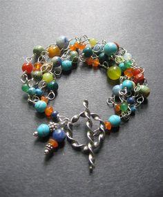Gemstone Bracelet. MultiStone Sterling by SimpleElementsDesign
