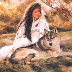 девушка и волк - Поиск в Google
