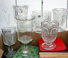 """Celery vases have straight sides to hold the celery upright.  Celery vases are usually 6"""" to 9"""" tall."""