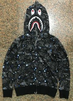 Bape Males Full Zipper Luminous Hoodie (Camouflage Edition)