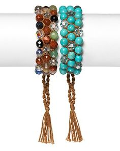 Chan Luu Turquoise with Light Azure Beaded Bracelet